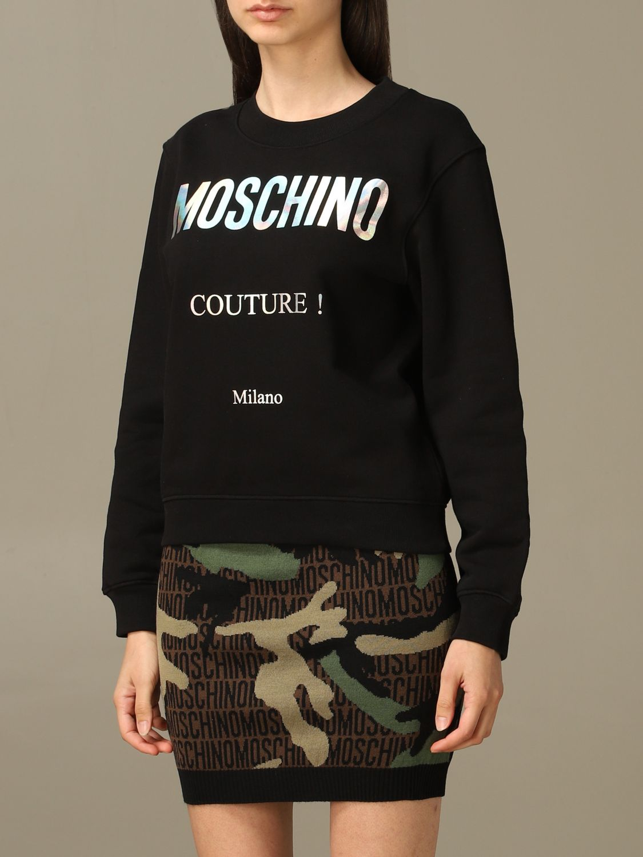 Sweatshirt Moschino Couture: Moschino Couture sweatshirt with mirror print black 4
