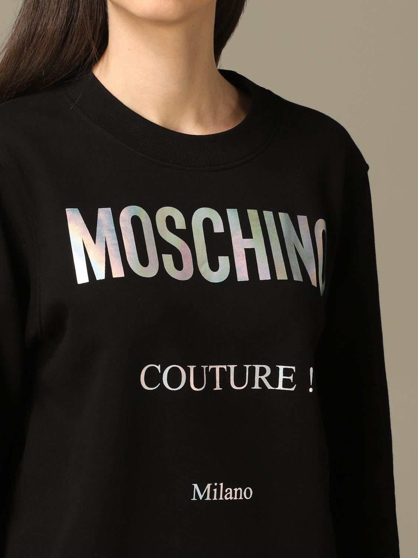 Sweatshirt Moschino Couture: Moschino Couture sweatshirt with mirror print black 5