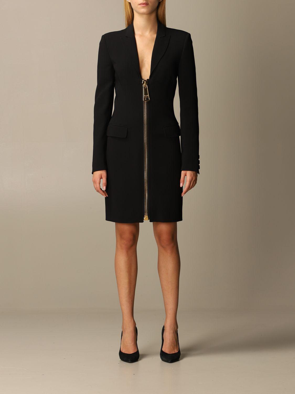 Abito Moschino Couture: Abito Moschino Couture in cady con big zip nero 1