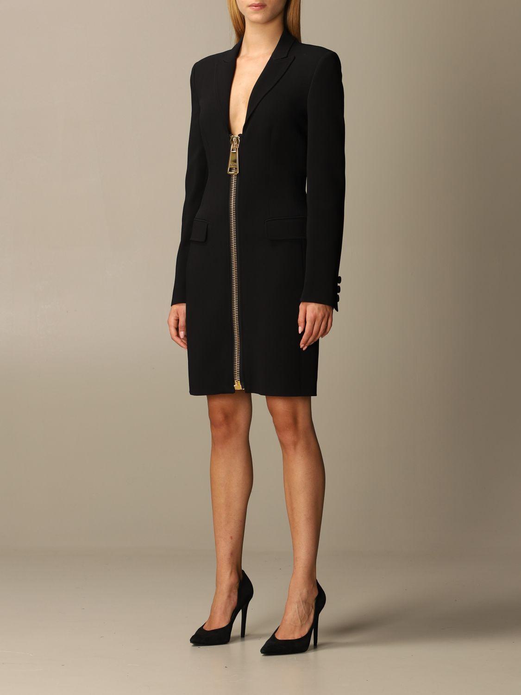 Abito Moschino Couture: Abito Moschino Couture in cady con big zip nero 3