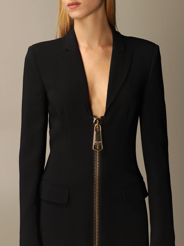 Abito Moschino Couture: Abito Moschino Couture in cady con big zip nero 4