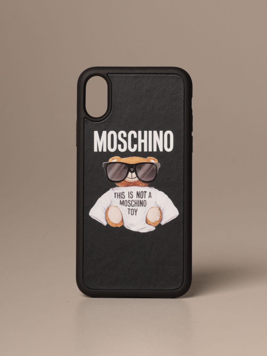 Coque Moschino Couture: Coque Iphone Xs / X Moschino Couture Teddy noir 1