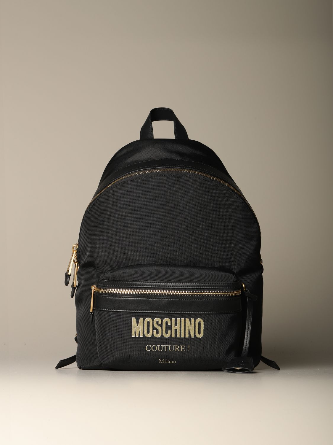 Backpack Moschino Couture: Moschino Couture backpack in canvas with logo black 1