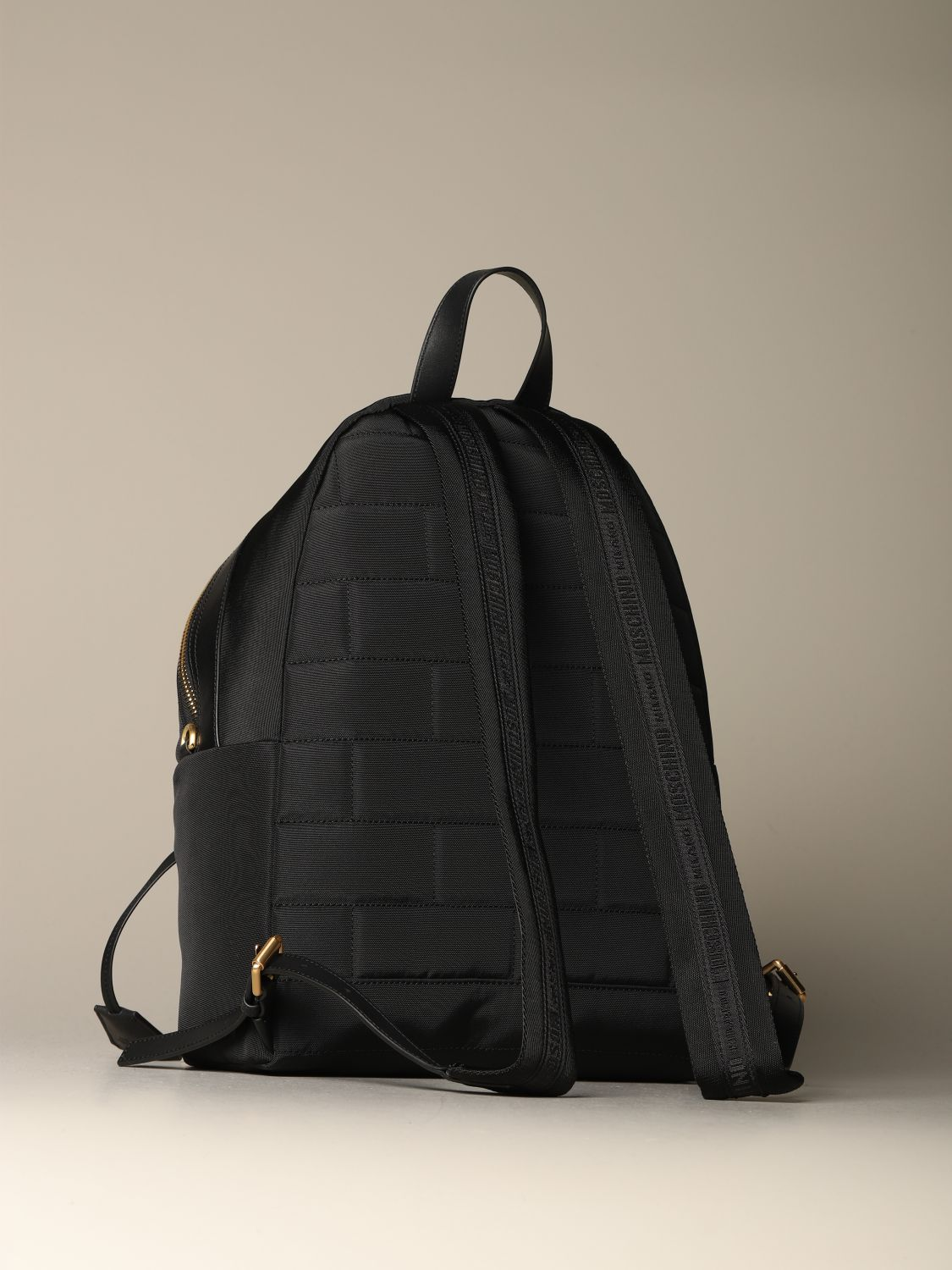 Backpack Moschino Couture: Moschino Couture backpack in canvas with logo black 2