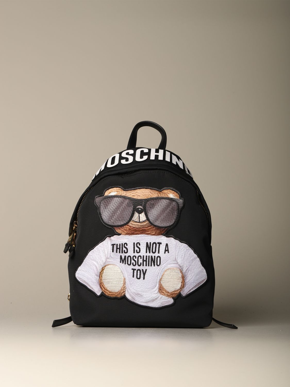 Backpack Moschino Couture: Moschino Couture nylon backpack with Teddy black 1