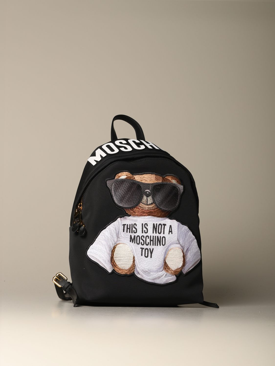 Backpack Moschino Couture: Moschino Couture nylon backpack with Teddy black 3