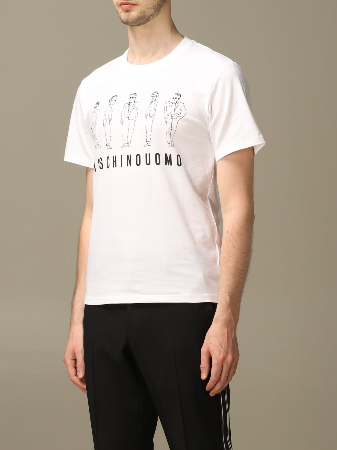 T-shirt Moschino Couture: T-shirt men Moschino Couture white 3