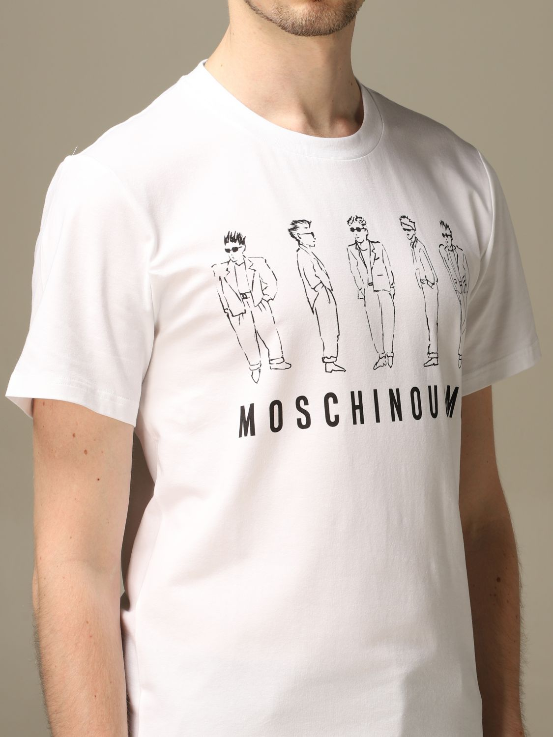 T-shirt Moschino Couture: T-shirt men Moschino Couture white 4