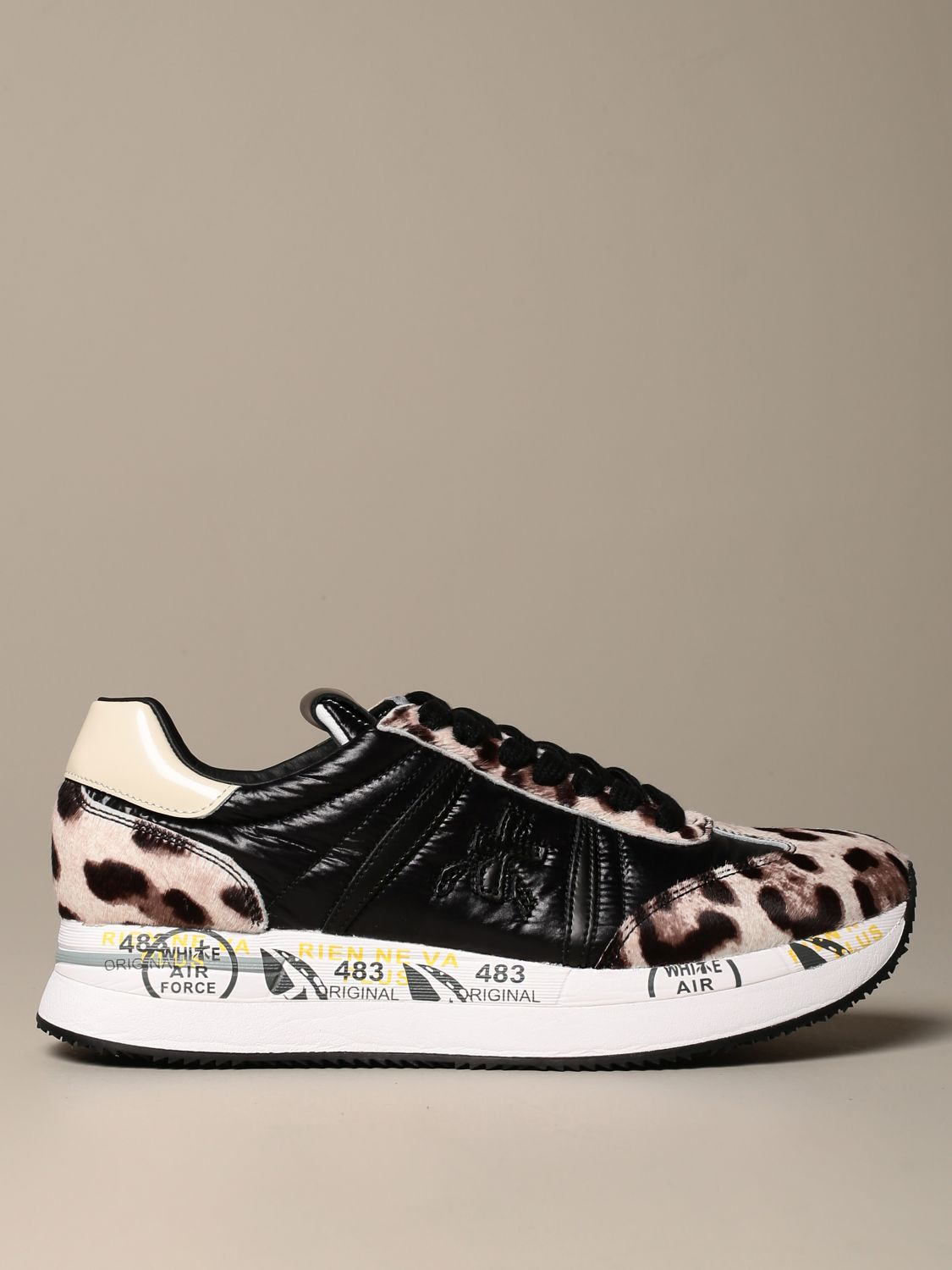 Sneakers Premiata: Conny Premiata sneakers in spotted pony and leather black 1