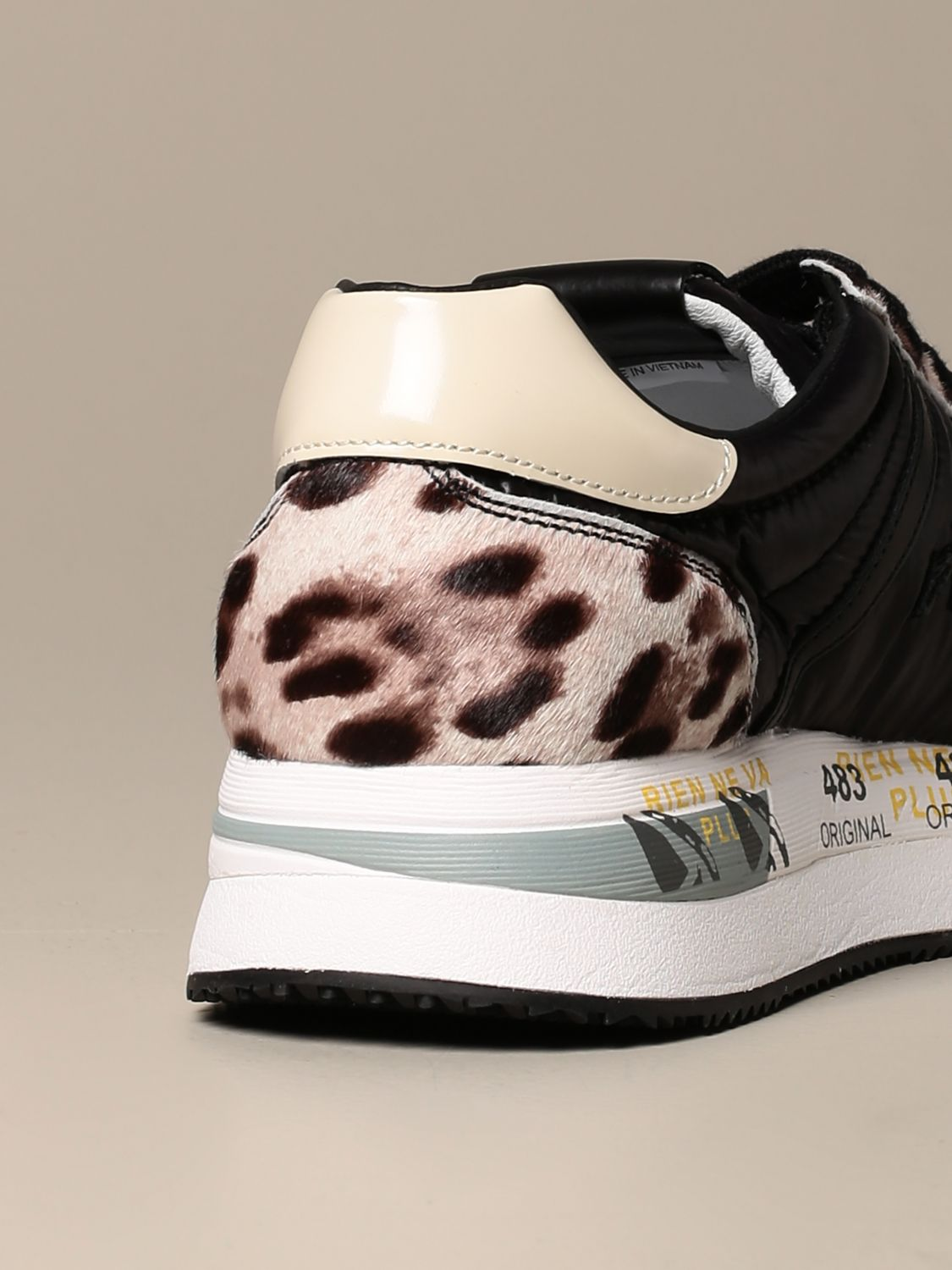 Sneakers Premiata: Conny Premiata sneakers in spotted pony and leather black 3
