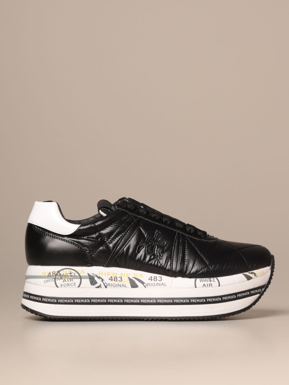 Sneakers Premiata: Beth Premiata sneakers in quilted leather black 1
