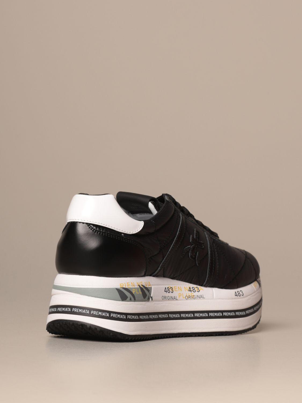 Sneakers Premiata: Beth Premiata sneakers in quilted leather black 3