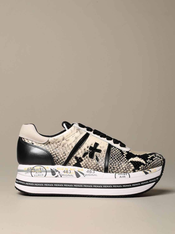 Sneakers Premiata: Beth Premiata sneakers in python print leather white 1