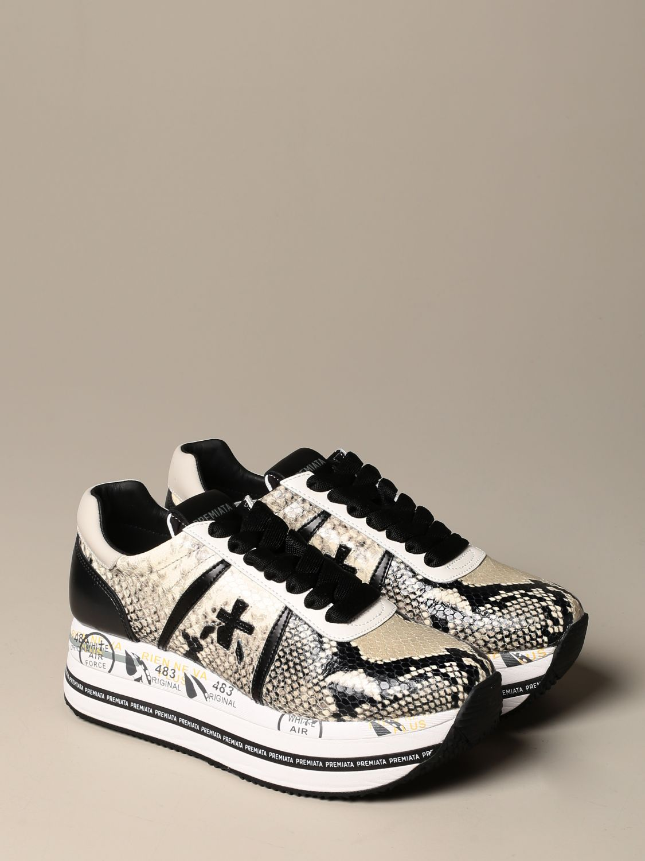 Sneakers Premiata: Beth Premiata sneakers in python print leather white 2