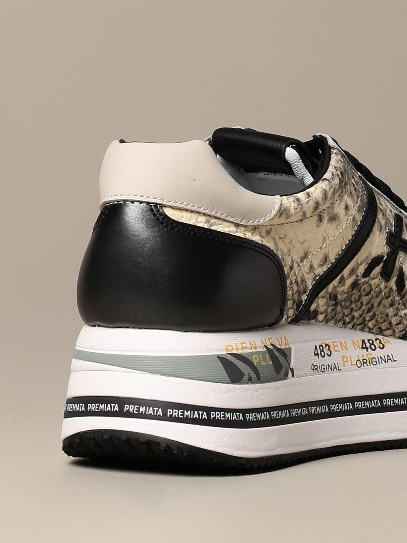 Sneakers Premiata: Beth Premiata sneakers in python print leather white 3