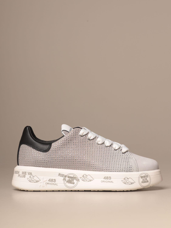 Sneakers Premiata: Belle Premiata sneakers in leather and glitter grey 1