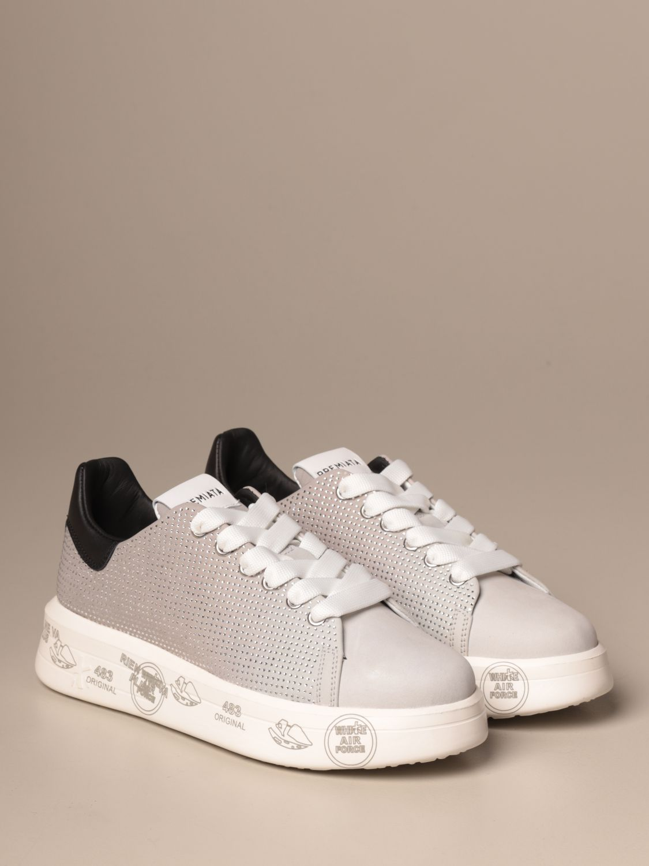 Sneakers Premiata: Belle Premiata sneakers in leather and glitter grey 2