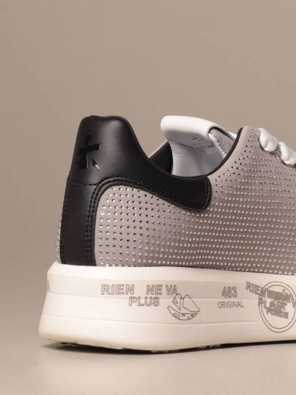 Sneakers Premiata: Belle Premiata sneakers in leather and glitter grey 3