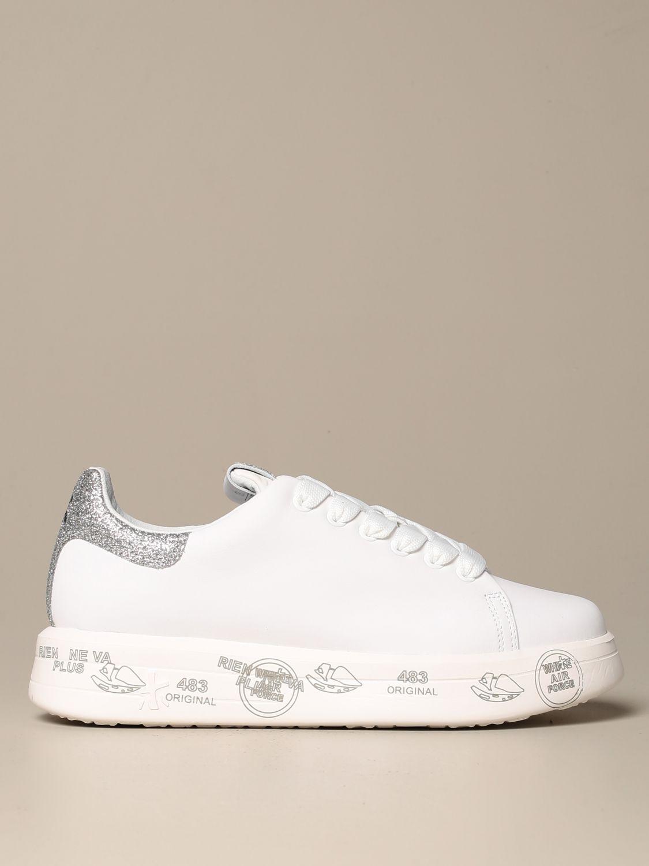 Sneakers Premiata: Belle Premiata sneakers in leather and glitter white 1