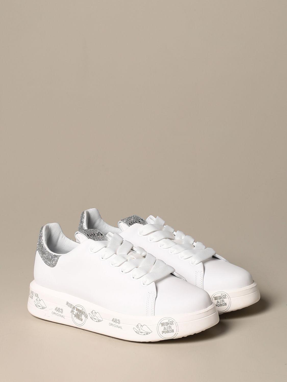 Sneakers Premiata: Belle Premiata sneakers in leather and glitter white 2