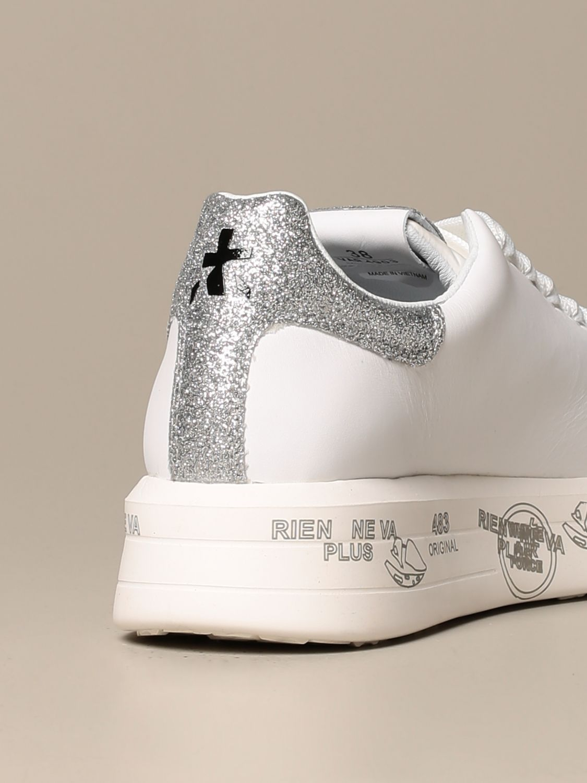 Sneakers Premiata: Belle Premiata sneakers in leather and glitter white 3