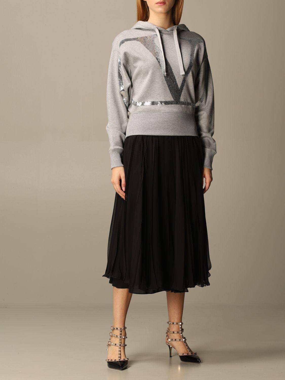 Sweatshirt Valentino: Sweatshirt damen Valentino grau 2