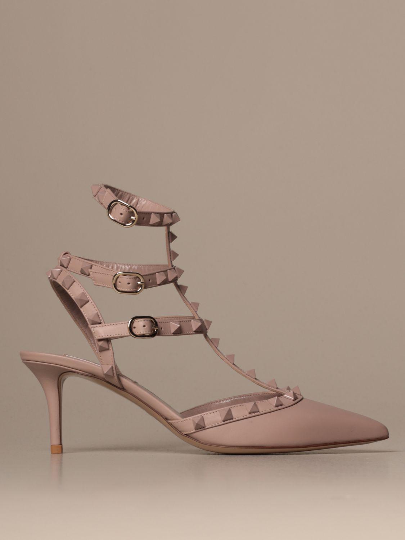 Heeled sandals Valentino Garavani: Shoes women Valentino Garavani blush pink 1