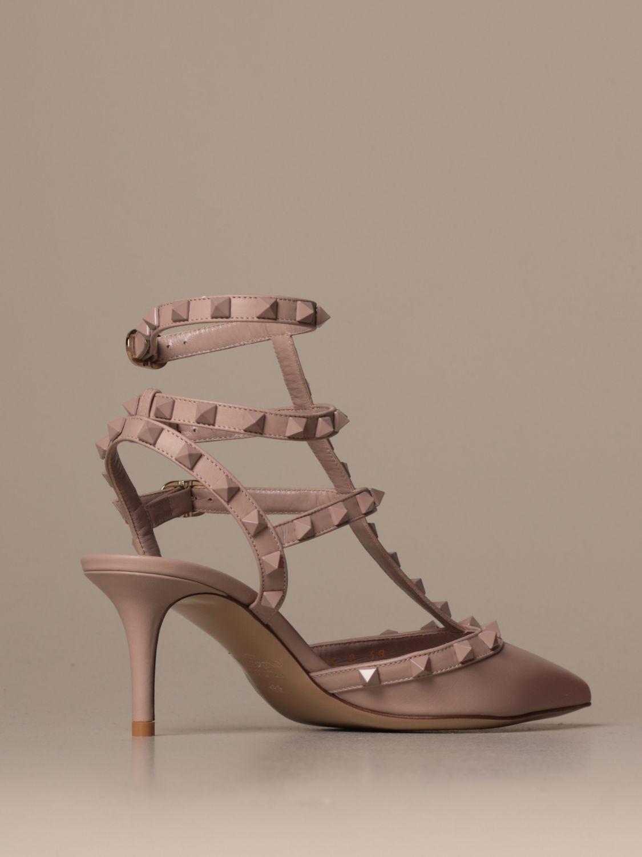 Heeled sandals Valentino Garavani: Shoes women Valentino Garavani blush pink 3