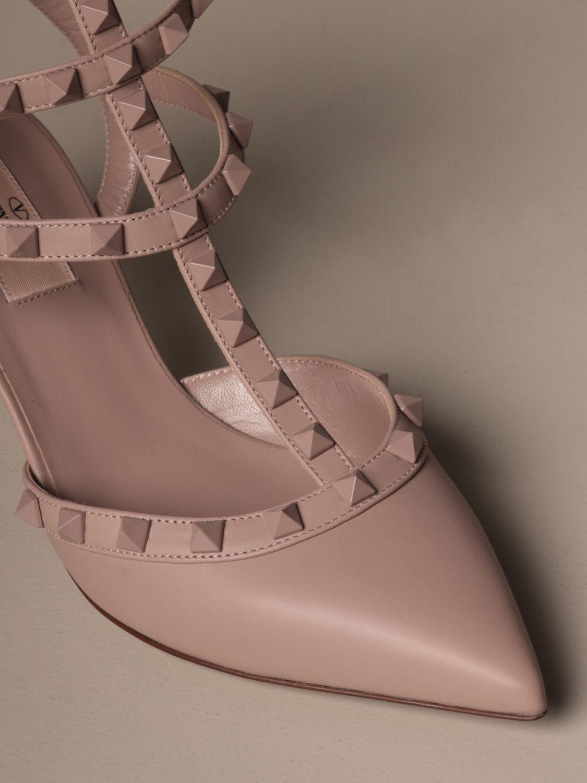 Heeled sandals Valentino Garavani: Shoes women Valentino Garavani blush pink 4