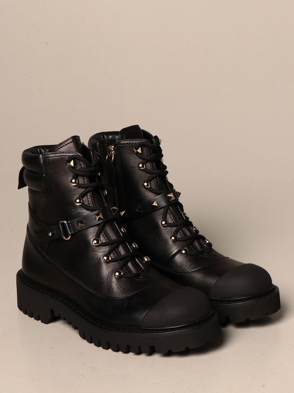 Flat ankle boots Valentino Garavani: Shoes women Valentino Garavani black 2