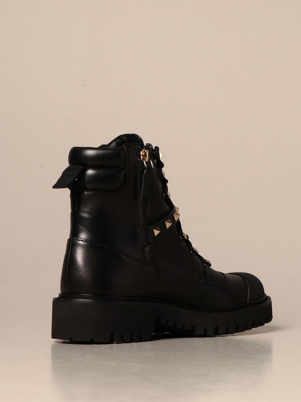 Flat ankle boots Valentino Garavani: Shoes women Valentino Garavani black 3