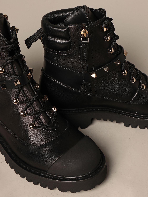 Flat ankle boots Valentino Garavani: Shoes women Valentino Garavani black 4