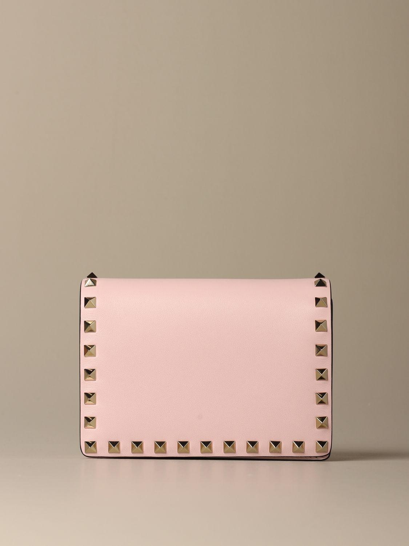 Mini bag Valentino Garavani: Valentino Garavani Rockstud leather shoulder bag pink 1