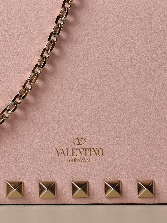Mini bag Valentino Garavani: Valentino Garavani Rockstud leather shoulder bag pink 4