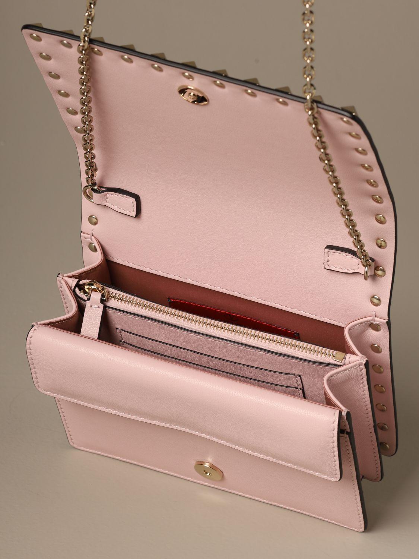 Mini bag Valentino Garavani: Valentino Garavani Rockstud leather shoulder bag pink 5