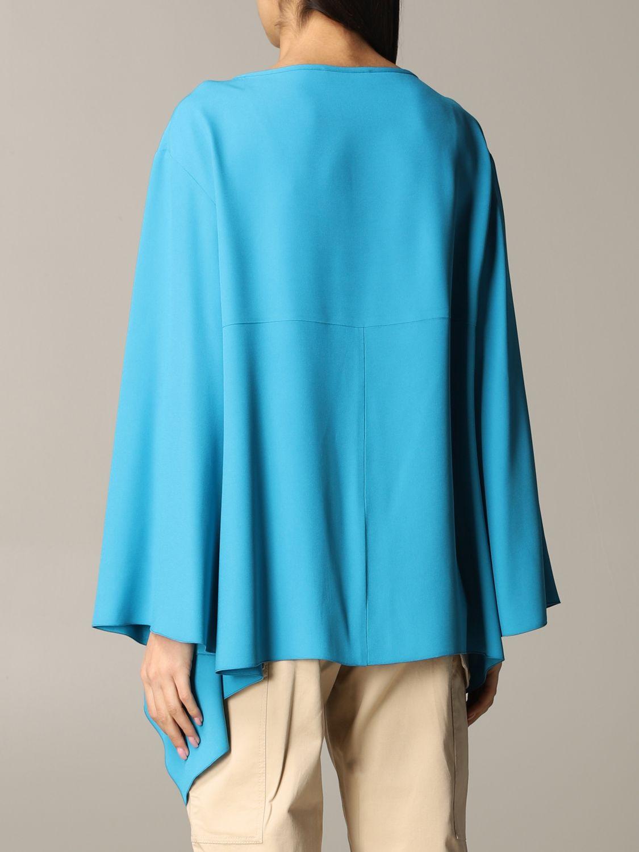 衬衫 Alberta Ferretti: Alberta Ferretti 不对称下摆衬衫 绿松石蓝 3