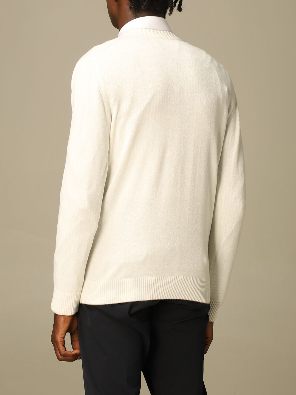Jumper Eleventy: Jumper men Eleventy yellow cream 3