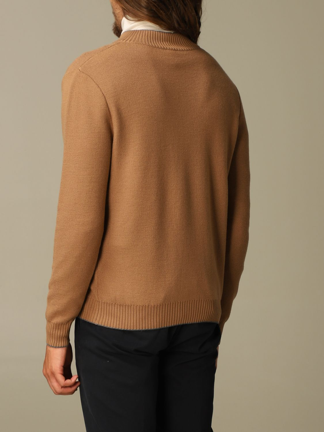Sweater Eleventy: Eleventy cardigan in virgin wool camel 2
