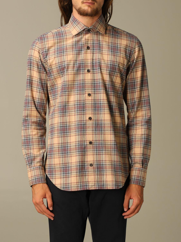 Shirt Eleventy: Shirt men Eleventy camel 1