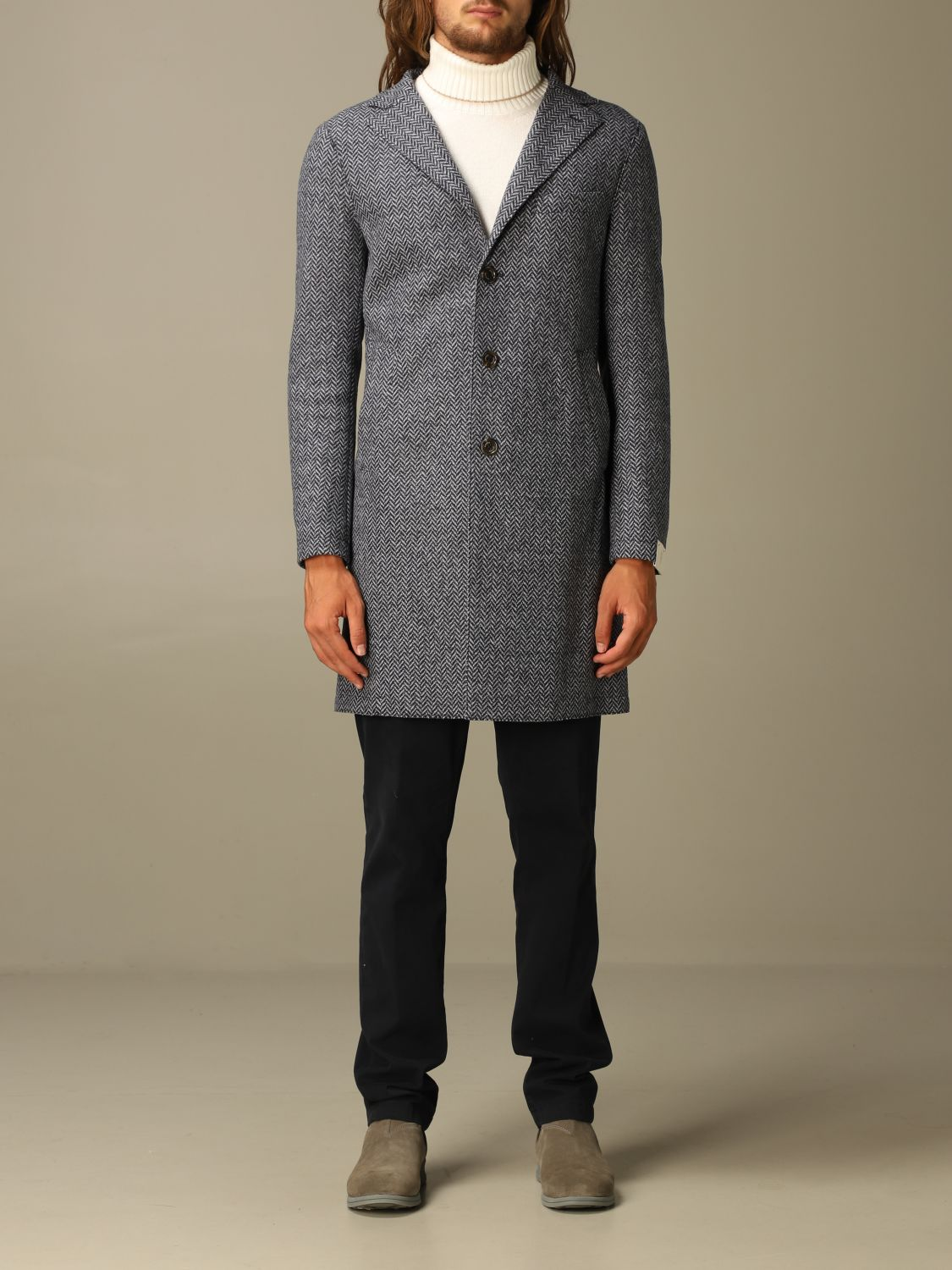 Coat Eleventy: Coat men Eleventy blue 1