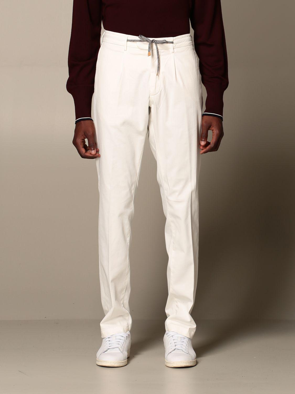 Pants Eleventy: Pants men Eleventy yellow cream 1