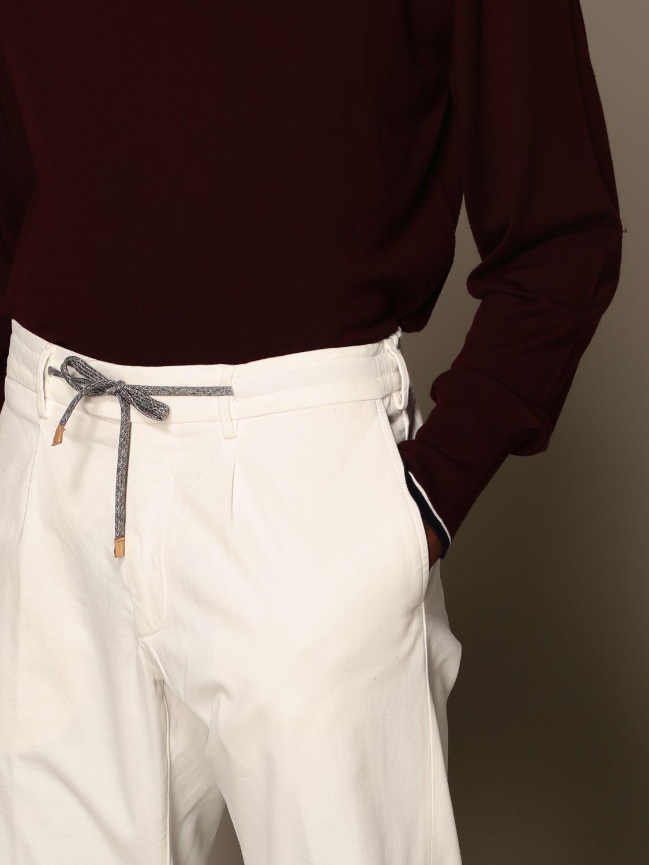 Pants Eleventy: Pants men Eleventy yellow cream 4