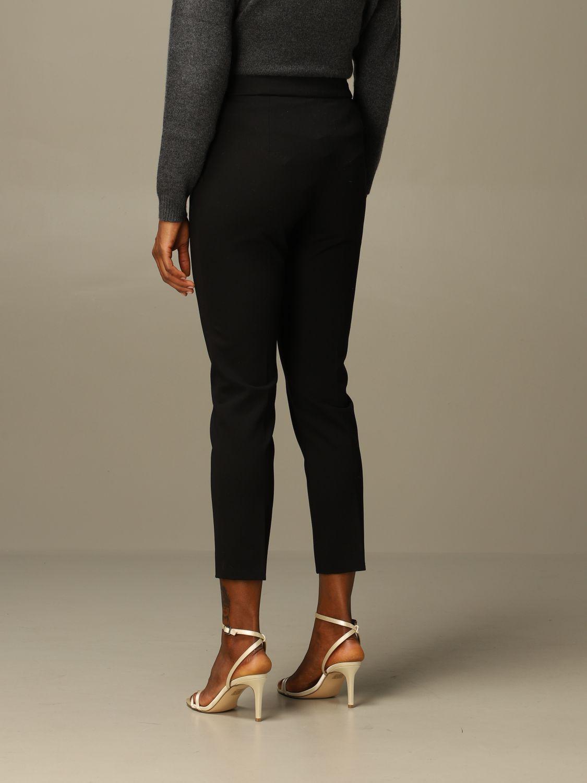 Pantalone Max Mara: Pantalone Pegno Max Mara in jersey di cotone slim fit nero 2