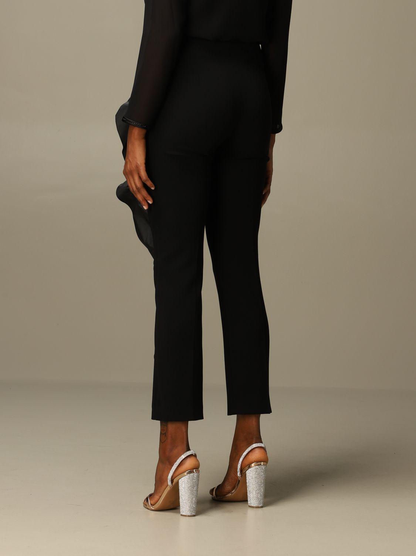 Pantalone Max Mara: Pantalone Etna Max Mara in cady con rouches nero 3
