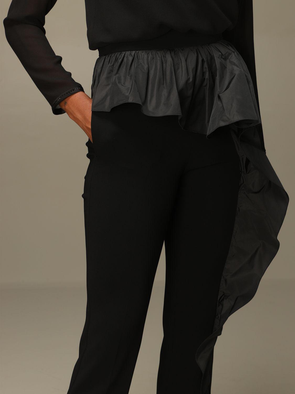 Pantalone Max Mara: Pantalone Etna Max Mara in cady con rouches nero 5
