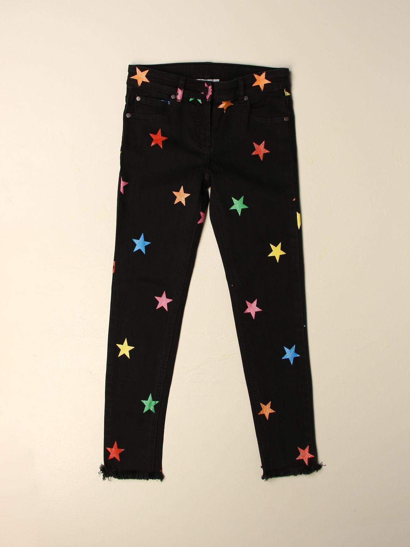 Jeans Stella Mccartney: Jeans Stella McCartney in denim con stelle multicolor nero 1