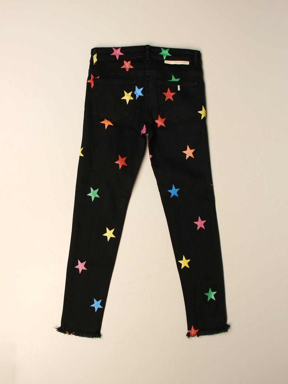 Jeans Stella Mccartney: Jeans Stella McCartney in denim con stelle multicolor nero 2