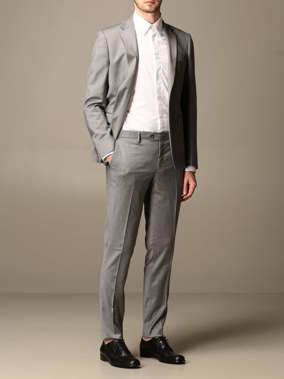 Suit Brian Dales: Brian Dales slim fit single-breasted suit charcoal 2