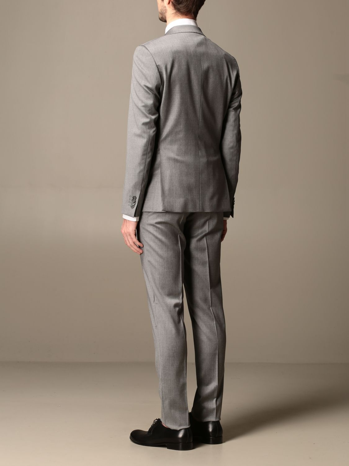 Suit Brian Dales: Brian Dales slim fit single-breasted suit charcoal 3