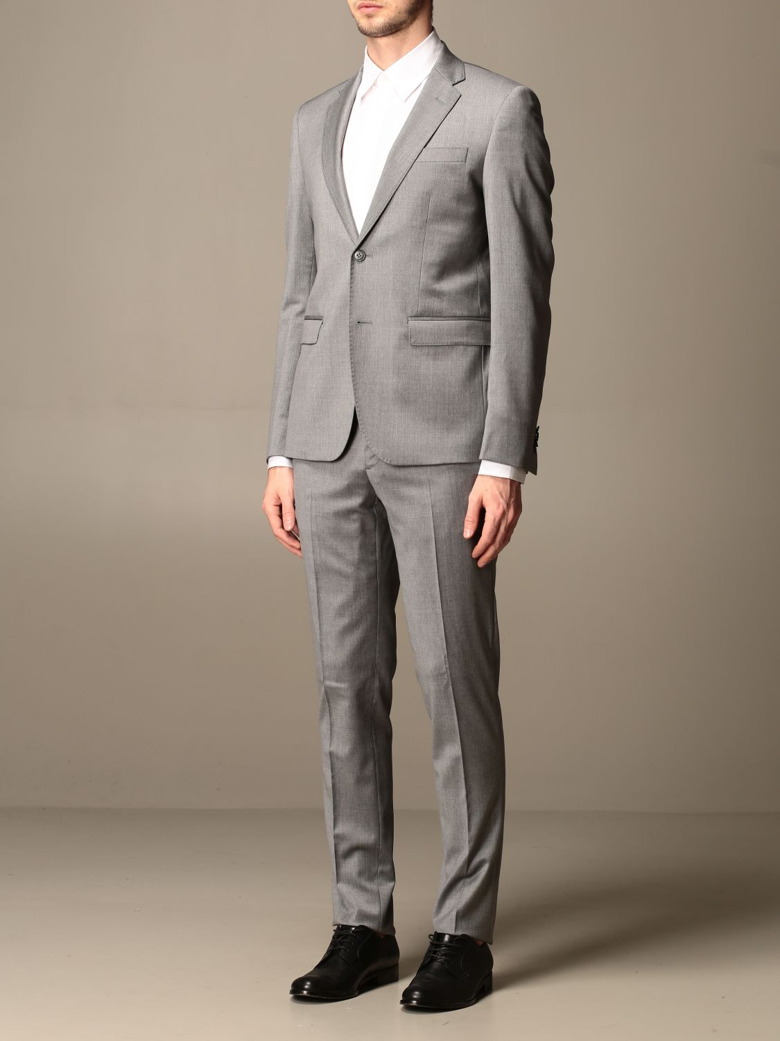 Suit Brian Dales: Brian Dales slim fit single-breasted suit charcoal 4
